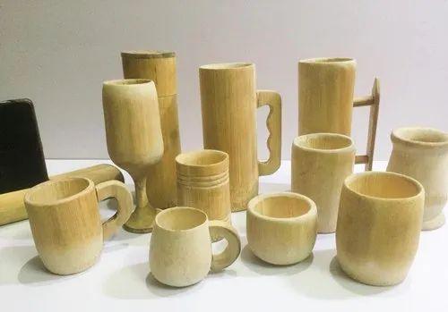 Reusable Bamboo Tableware For Restaurants, Bars - Bamboo Beer Mugs, Bamboo Coffee Mug,Tea Cup