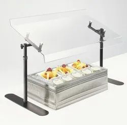 Acrylic Guard For Buffet Counter With Adjustable Metal Stand