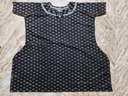 For Night Dress Half Sleeve Female Printed Cotton Ladies Nighty