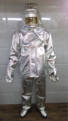 Aluminized Kevlar Fire Proximity Suit Jacket & Trouser