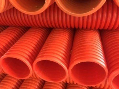 Orange DWC HDPE Pipe