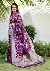 Woman Designing Silk Saree