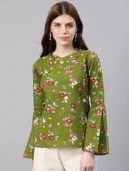 Cotton Floral Print Regular Top