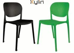 Kylin Plastic Modern Cafe Chair, Size: Standard