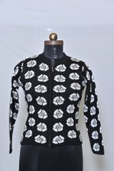 402 Woolen Printed Cardigan
