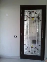 Hinged Decorative Designer Glass Door, For Home, Thickness: 25 Mm