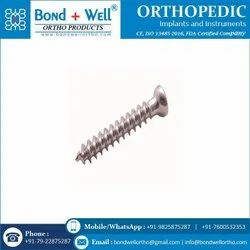 6.5 mm Fully Thread Orthopedic Implants Cancerous Screw