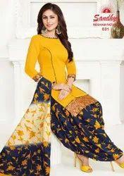 Cotton Straight Resham Patiyala Vol 2 Sandhya Readymade Dress, Handwash