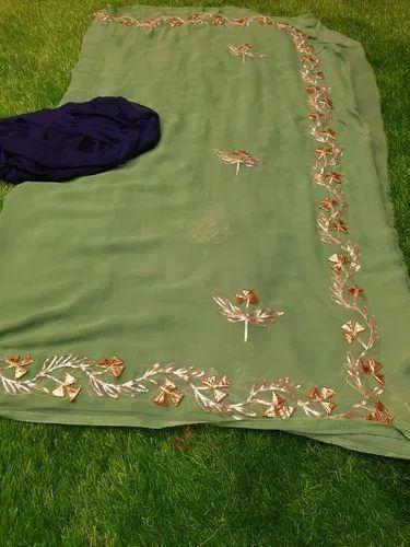Pure Nazmin Embroidered Chiffon Saree