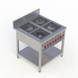 SS Four Burner Cooking Range