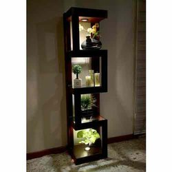 Brown Wooden Wood Corner Shelf, For Home