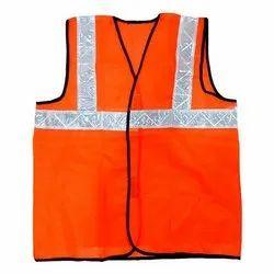 Metro Florescent Reflective Jacket 100% Polyester Orange & Green
