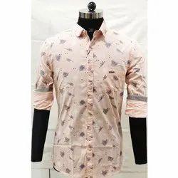 Cotton Collar Neck Men Casual Wear Printed Shirt