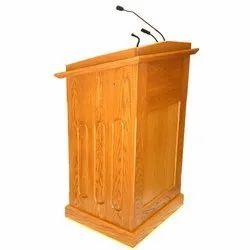 Brown Wooden Podium