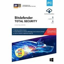 Bitdefender Total Security 1Pc 1Year, For Windows