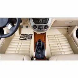 Beige Pu Leather Car Mat