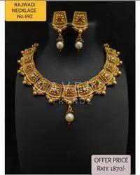 692 Rajwadi Antique Necklace Sets