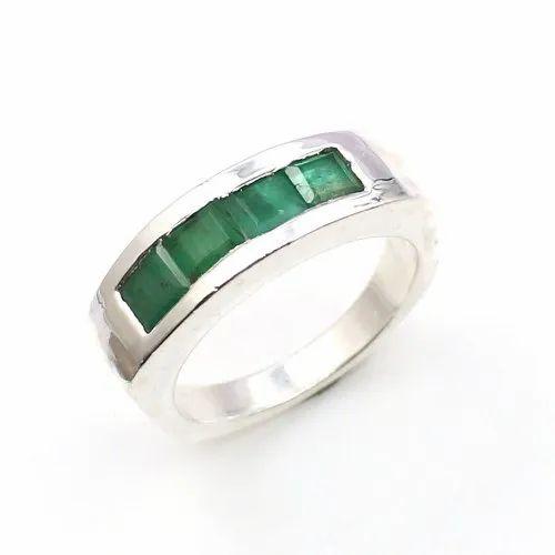 Square Shape Emerald Ring