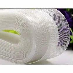 白色1英寸塑料带花边,为婚礼勒亨加