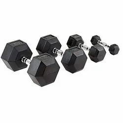Fixed Weight Rubber Hex Dumbbell, Hex Dumbells, Weight: 5 kg
