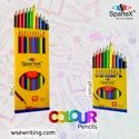 Polymer Spartex Colour Pencil-small, For Coloring, Packaging Size: 10pcs Boxx