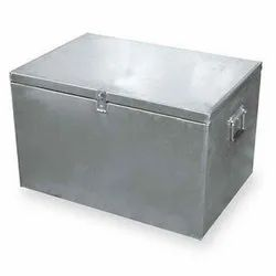 19 Inch Silver Stainless Steel Trunk Boxes