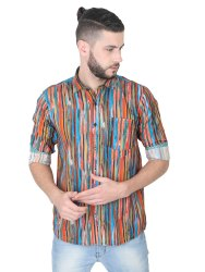 100% Cotton GGCPDF-1095 Mens Casual Shirt