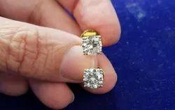 Artificial Diamonds Daily Wear moissanite14k gold earrings