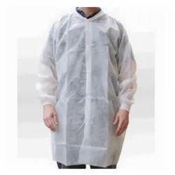 Non Woven White Disposable Apron, Size: Medium