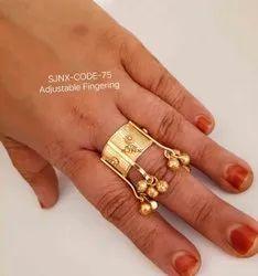 15 Gm传统哑光可调女性手指戒指,尺码:免费
