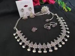 German Silver Designer Artificial Necklace Set