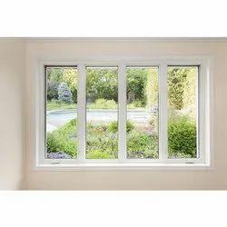 White Modern UPVC Casement Openable Window, Glass Thickness: 10 Mm