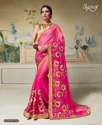 Pink Color Fancy Designer Rangoli Silk Saree