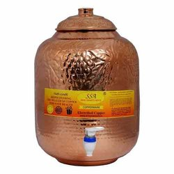 Copper Antique Water Pot, Capacity: 16 Liter