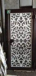 Brown Stainless Steel MS Design Door, For Home