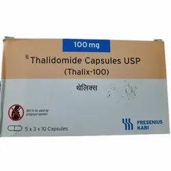 Thalidomide 100 mg Thalix Capsule, Fresenius, 5 X 3 X 10 Capsules