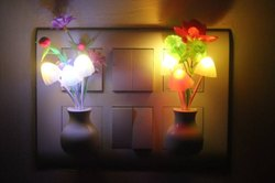 Multicolour Plastic Mushroom Light Automatic Sensor, For Night Lamp