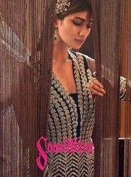 Swagat Violete Snow White Premium Net Long Party Wear Desinger Suits Catalog