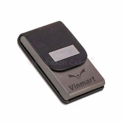 Black Premium Leather Card Holder - Promotional Gift