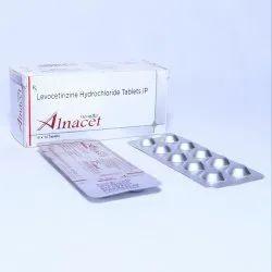 ALNACET Tablet Levocetrizine 5mg, Packaging Type: Alu-alu, Packaging Size: 10*10