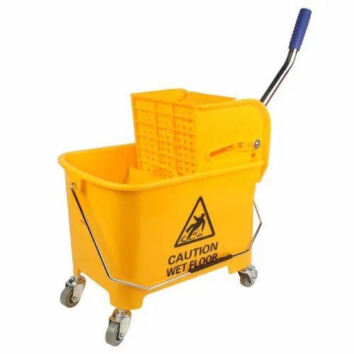 20 Litter Mop Wringer Trolley