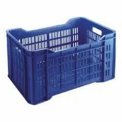 Rectangular Blue Supreme Plastic Crates, For Commercial
