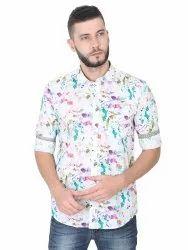 Guniaa 100% Cotton GGCPDF-2166 Mens Casual Shirt