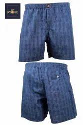 Regular Blue & Multi Colour Check Boxer, Packaging Type: 2 Pc