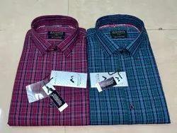 Oxford Cotton Checks Men Checked Formal Shirt., Machine wash