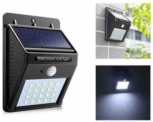 Abs Plastic Warm White Led Solar Wall Light Motion Sensor 20 Led Battery Type Lithium Ion Capacity 2200 Mah Rs 330 Piece Id 22659503512
