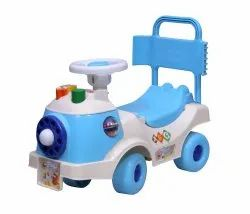 White & Blue 50346 3 In 1 Educational Rider, No. Of Wheel: 4 Wheel