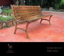 Outdoor Garden Bench With Wood