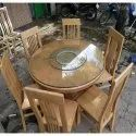 Designer Furniture 6 Seater Round Dining Table, For Hotel