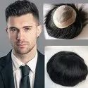 Confidence Human Hair Mono Filament Hair Patch Wig For Men Regular Wear